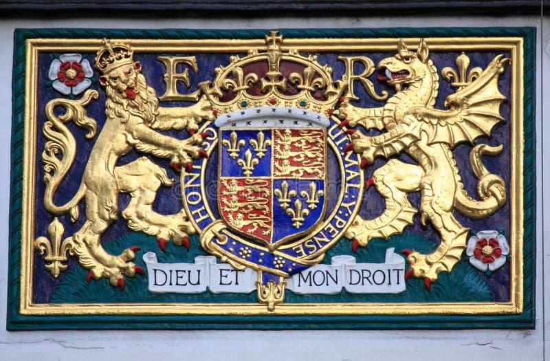 Königliches Wappen des Vereinigten Königreichs lizenzfreie stockfotografie