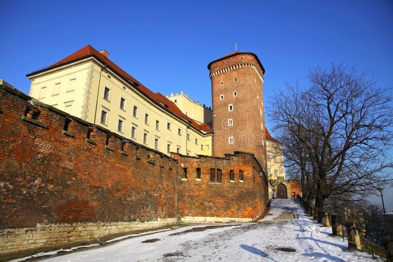 Königliches Wawel Schloss in Krakau, Polen lizenzfreie stockbilder