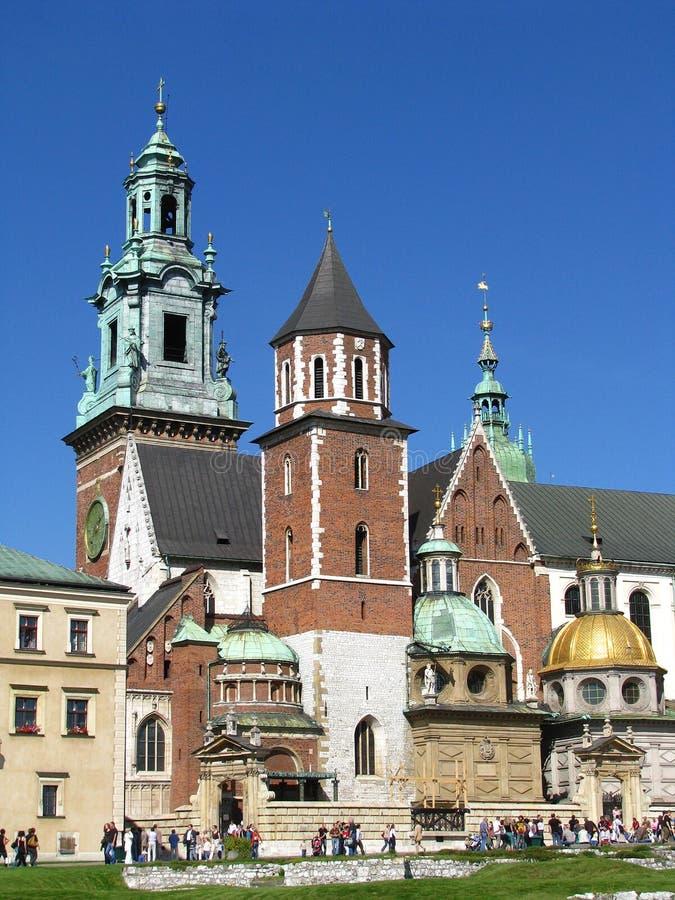 Königliches Wawel-Schloss in Krakau - Polen lizenzfreies stockfoto