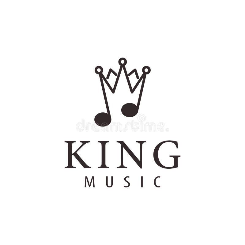 Königmusik-Luxuslogo und Ikonenentwurf vektor abbildung