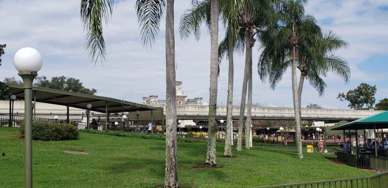 Königreich-Orlando Florida-Ansicht Disneys magische vom Pier stockbild