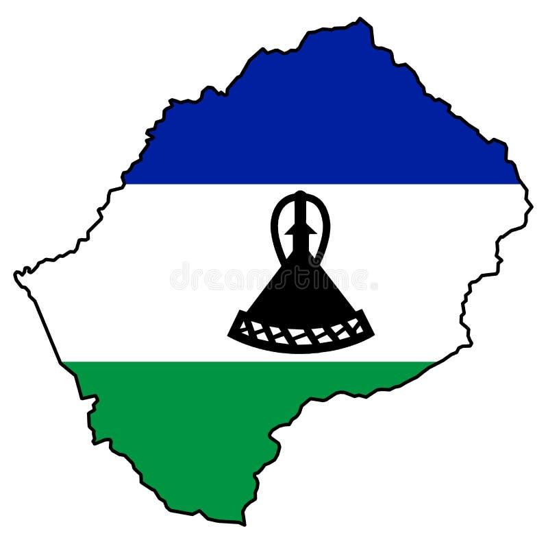 Königreich von Lesotho stock abbildung