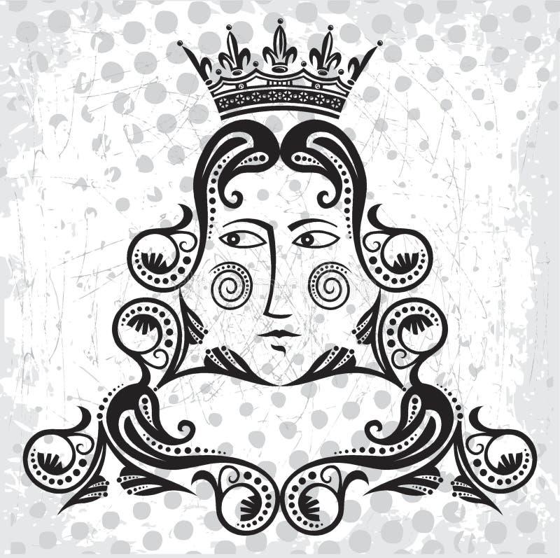 Königzeichen vektor abbildung