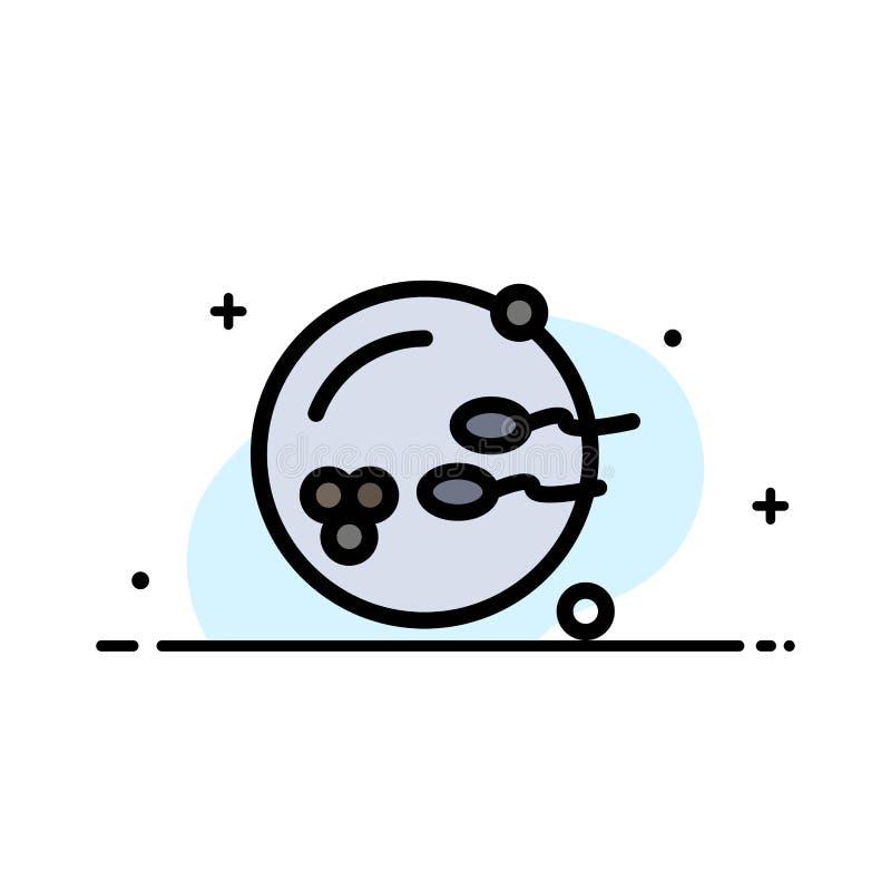 Könsbestämma den plana linjen fylld mall för affären för symbolsvektorbaner, fertilt fortplantning, reproduktion vektor illustrationer