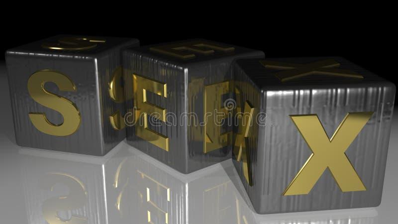 KÖNSBESTÄMMA metalliska kuber vektor illustrationer