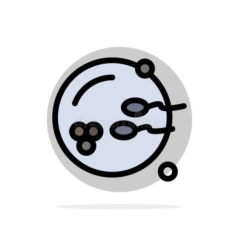 Könsbestämma symbolen för färg för abstrakt cirkelbakgrund den plana, fertilt fortplantning, reproduktion vektor illustrationer