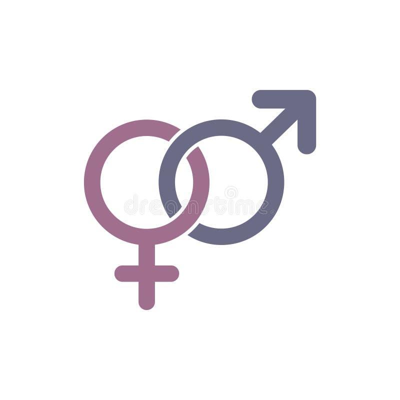 Könsbestämma symbolen Genustecken Male och kvinnliga symboler vektor illustrationer