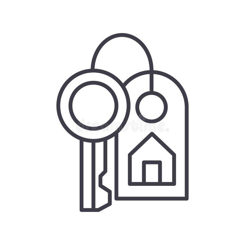 Köp av begreppet för fastighetsvartsymbol Köp av symbolet för fastighetlägenhetvektor, tecken, illustration royaltyfri illustrationer