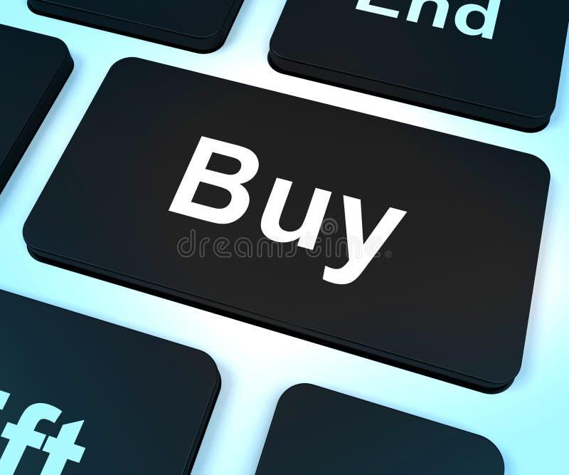 Köp datortangenten för kommers eller sälja i minut royaltyfri illustrationer
