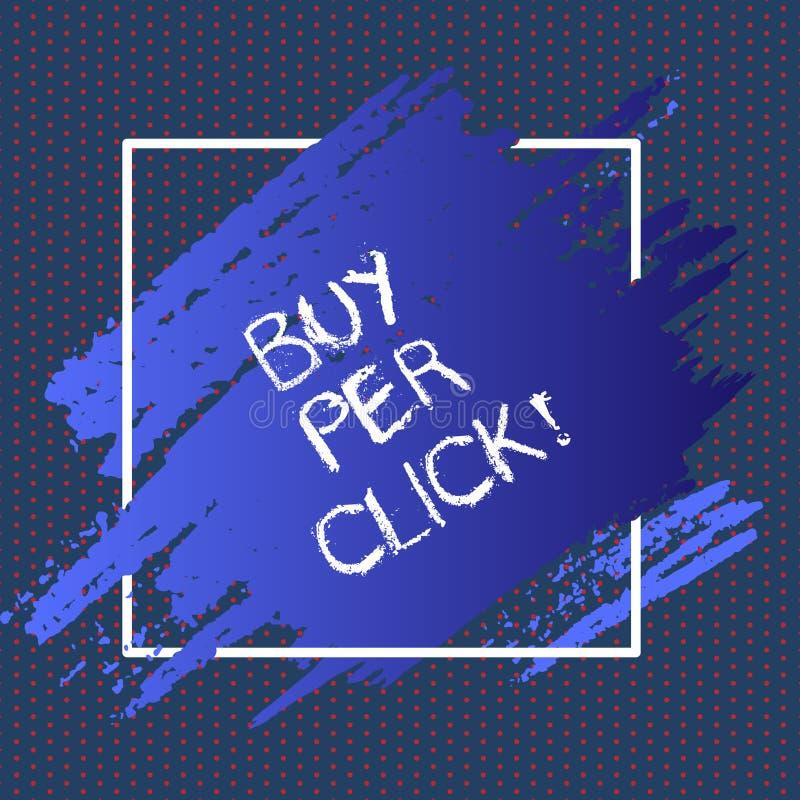 Köp för textteckenvisning per klick Teknologier för ecommerce för begreppsmässigt foto online-inhandla moderna som shoppar vektor illustrationer
