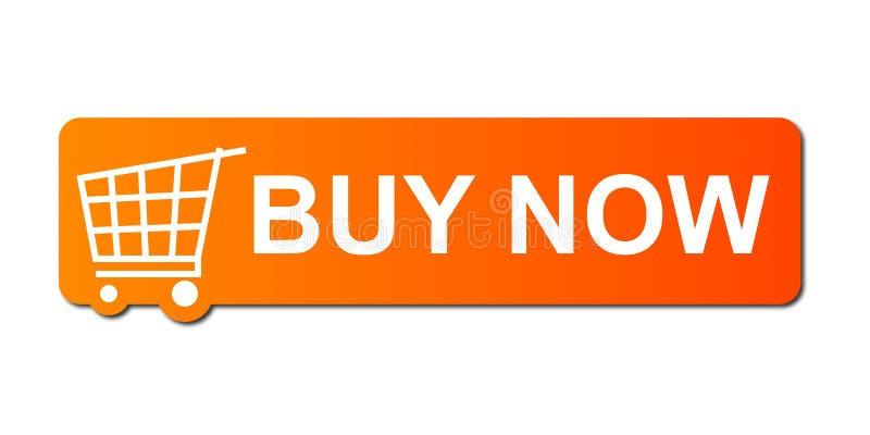 köp nu orangen royaltyfri illustrationer