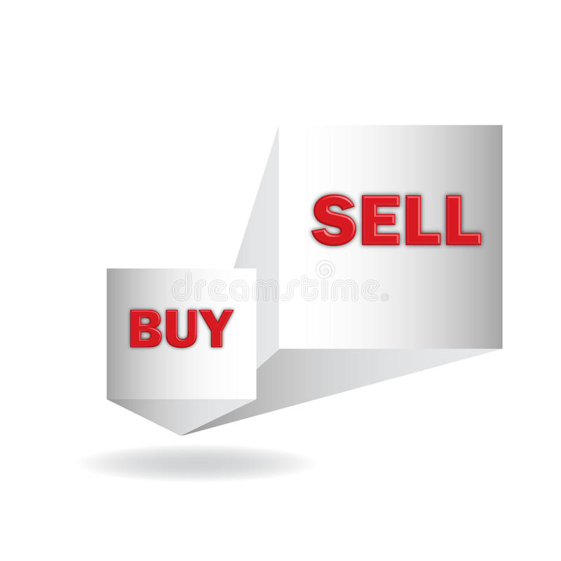 Köp och försäljning arkivbild