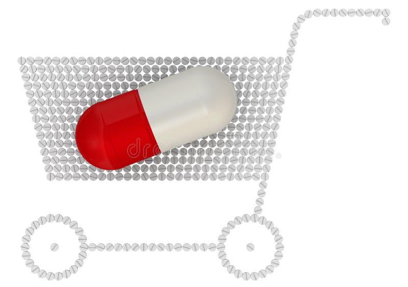 Köpande droger Begrepp stock illustrationer