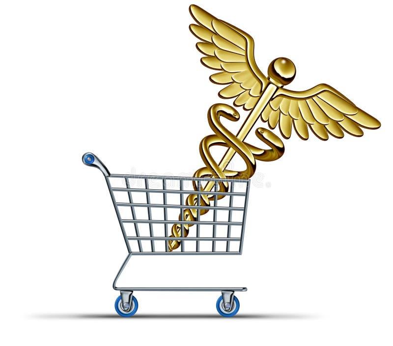 Köpande sjukförsäkring stock illustrationer
