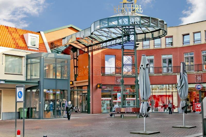 Köpcentrum i den holländska staden av Eindhoven. arkivfoto