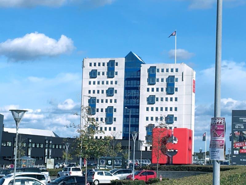 Köpcentrum i Herningen, Danmark royaltyfri bild