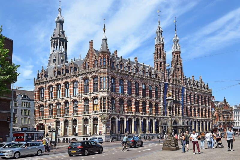 Köpcentrum Magna Plaza i Amsterdam arkivbild
