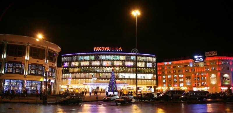 Köpcentrum på revolutionfyrkanten Nizhny Novgorod royaltyfri bild