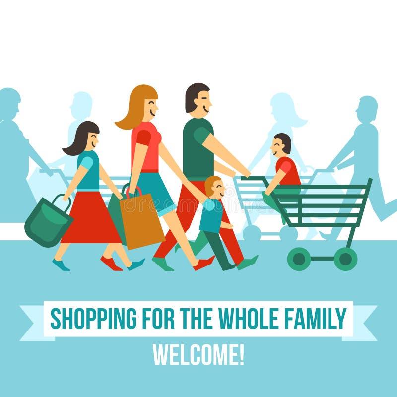 Köpcentrumbegrepp stock illustrationer