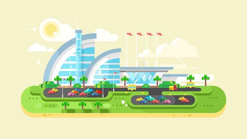 Köpcentrumgalleria stock illustrationer