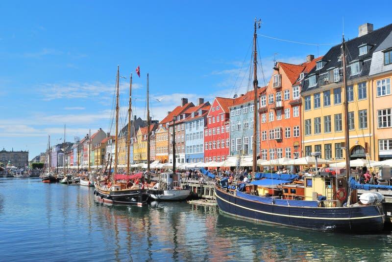 Köpenhamn Nyhavn fotografering för bildbyråer