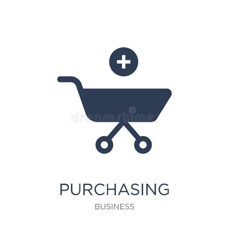Köpkraftparitetsymbol Moderiktig plan vektor som inhandlar powe stock illustrationer