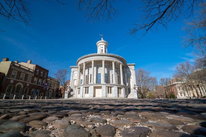 Köpmanutbytesbyggnad i i stadens centrum Philadelphia royaltyfri fotografi
