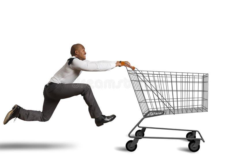 Kör för att gå att shoppa royaltyfri foto