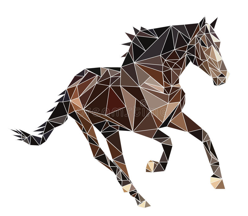 Kör hästvektorn vektor illustrationer
