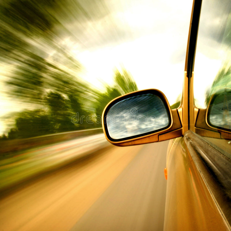kör hastighet arkivbild