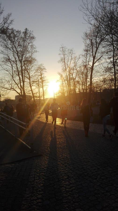 Kör till solen fotografering för bildbyråer
