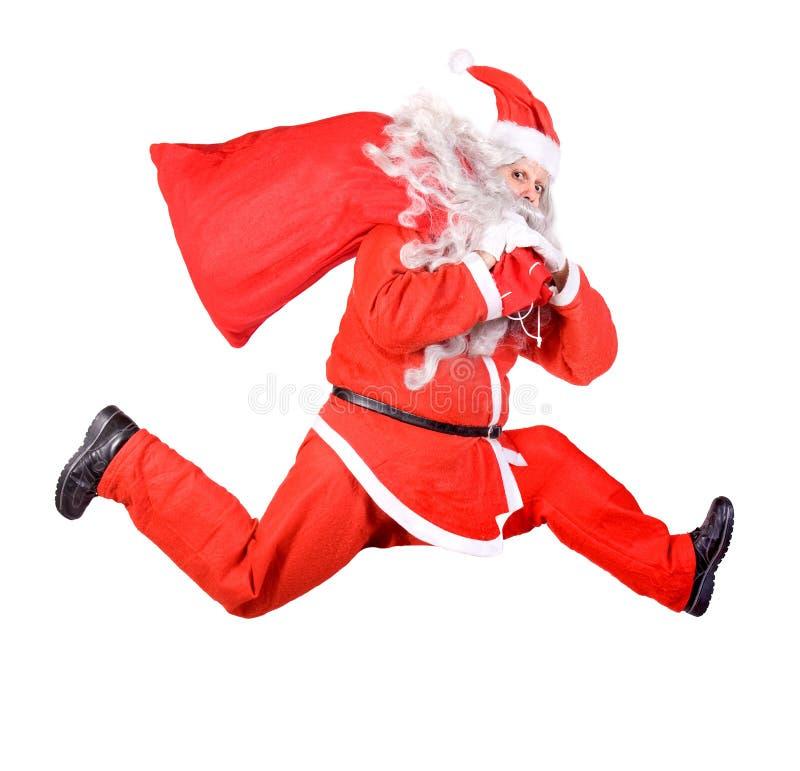 Körande Santa Claus royaltyfria bilder