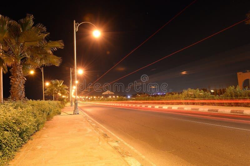 Körbana på natten royaltyfria bilder