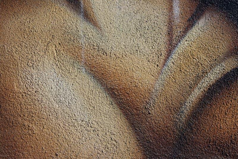 Körnige Beschaffenheit einer gemalten Betonmauer lizenzfreies stockfoto