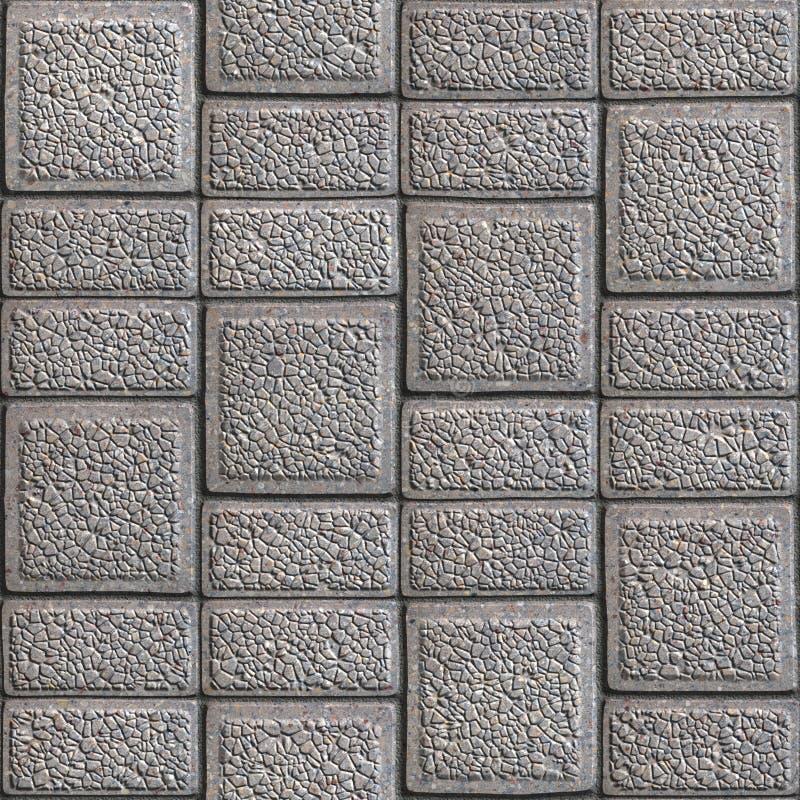 Körnige Pflastersteine. Nahtlose Tileable-Beschaffenheit. lizenzfreies stockbild