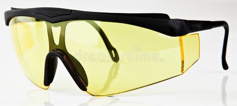 körning av yellow för sport för exponeringsglaslinsnatt royaltyfria foton