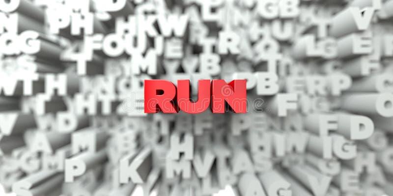 KÖRNING - Röd text på typografibakgrund - 3D framförde fri materielbild för royalty vektor illustrationer