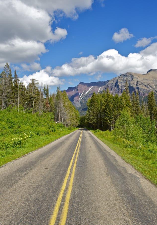 Körning till och med Montana royaltyfria bilder