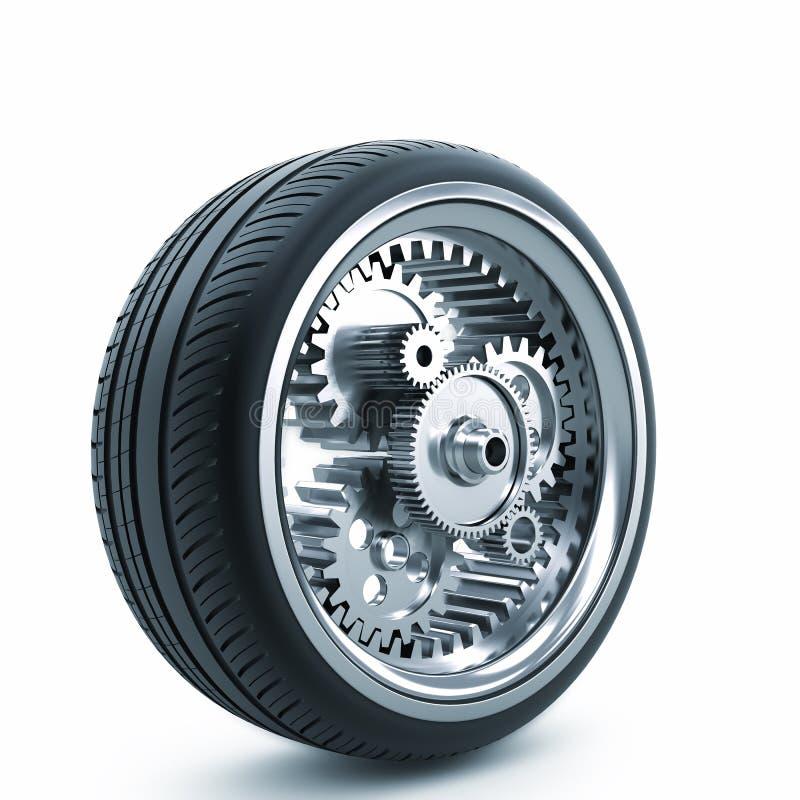 Körningshjul stock illustrationer