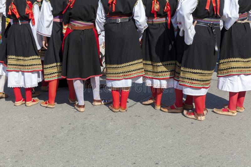 Körper der serbischen Folklore lizenzfreies stockfoto