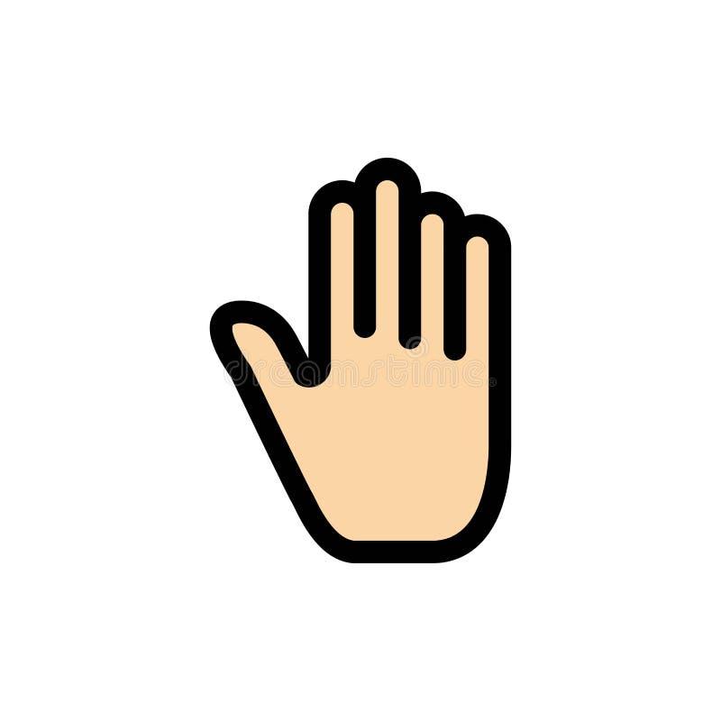 Körper-Sprache, Gesten, Hand, Schnittstelle, flache Farbikone Vektorikonen-Fahne Schablone stock abbildung