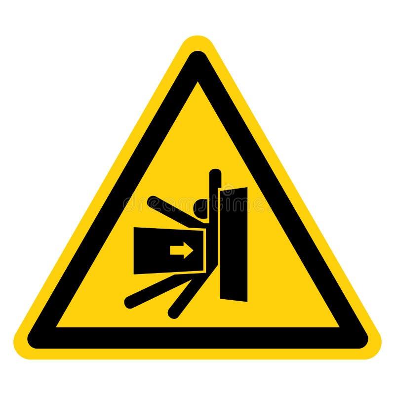 K?rper zerquetschen Kraft vom Seitensymbol-Zeichen, Vektor-Illustration, Isolat auf wei?em Hintergrund-Aufkleber EPS10 lizenzfreie abbildung