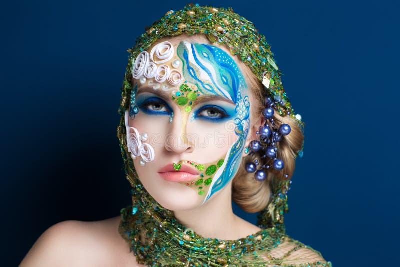 Körperkunstmeerjungfrau lizenzfreie stockfotos