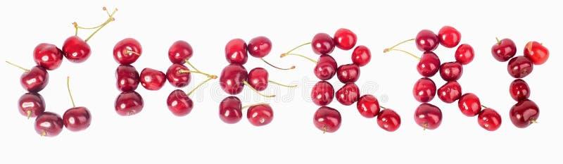 Körsbär många körsbär som är röda arkivbilder