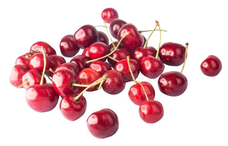 Körsbär många körsbär som är röda arkivfoton
