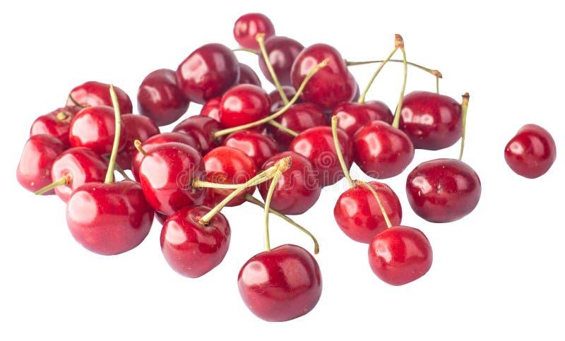 Körsbär många körsbär som är röda royaltyfri fotografi