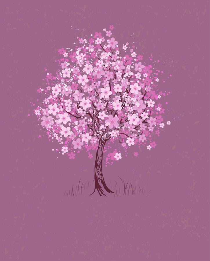 Körsbär på rosa bakgrund stock illustrationer