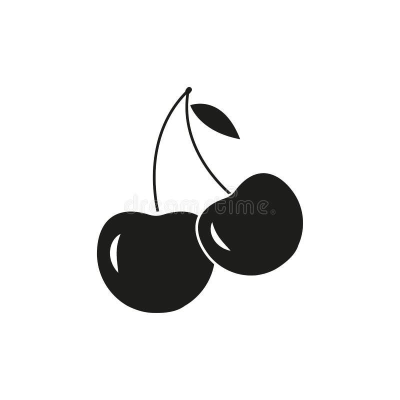 Körsbärsröda symboler av ekologibäret vektor illustrationer