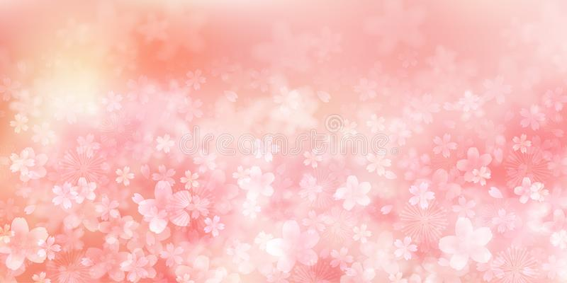 Körsbärsrött illustrationmaterial som avbildade den japanska våren vektor illustrationer