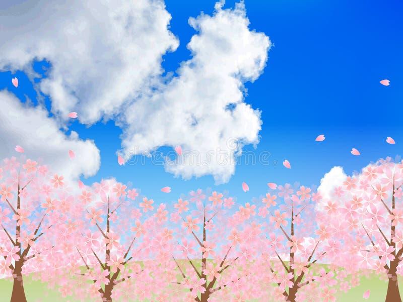 Download Körsbärsrött träd vektor illustrationer. Illustration av blommor - 37346283